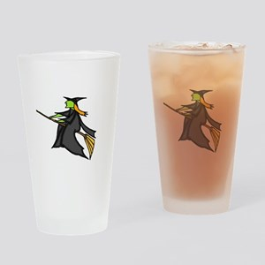 Witch Flying Drinking Glass