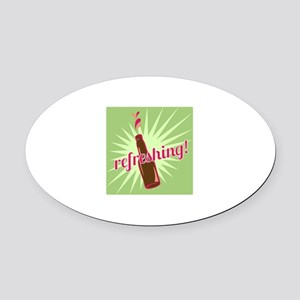 Refreshing Pop Oval Car Magnet