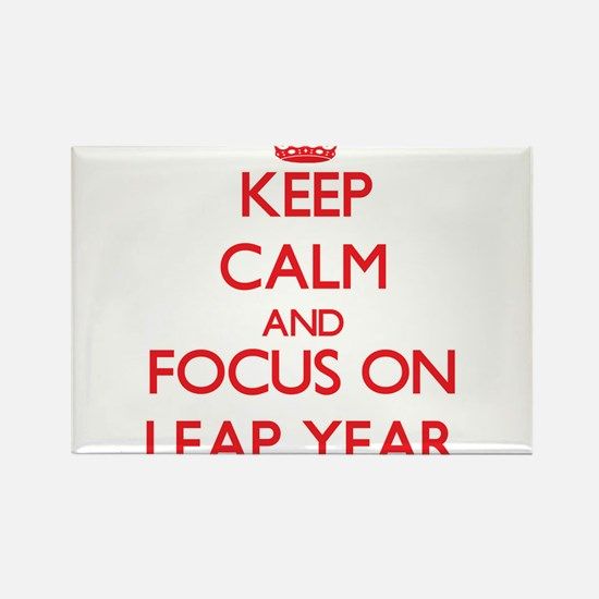 Keep Calm and focus on Leap Year Magnets