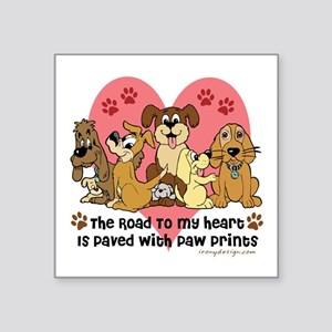 The Road To My Heart Dog Paw P Sticker