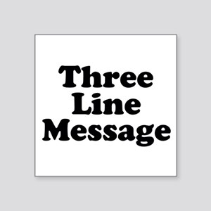 Big Three Line Message Sticker
