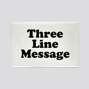 Big Three Line Message Magnets