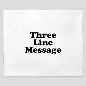 Big Three Line Message King Duvet