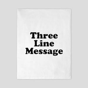 Big Three Line Message Twin Duvet