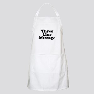 Big Three Line Message Apron