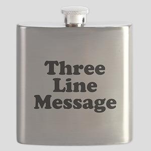 Big Three Line Message Flask