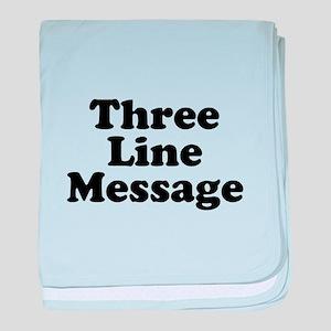 Big Three Line Message baby blanket