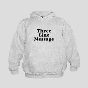 Big Three Line Message Hoodie