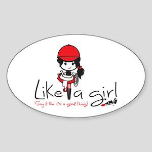 LAG_023_Equestrian_logo Sticker (Oval)