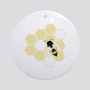 Honeybee Ornament (Round)