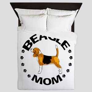Beagle Mom Queen Duvet
