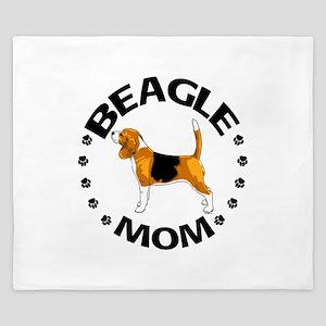 Beagle Mom King Duvet
