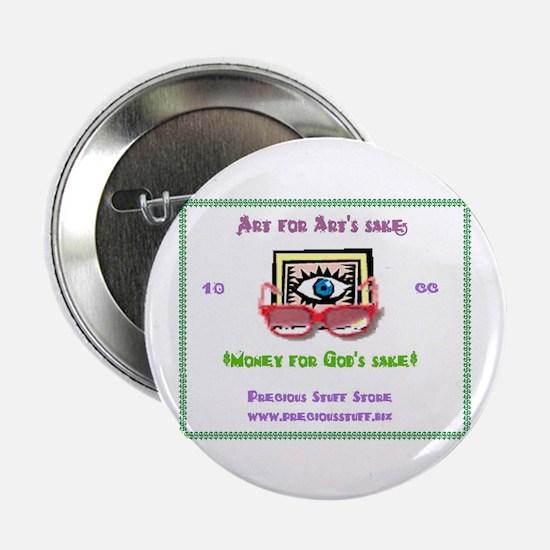 """Art 4 Arts Sake 2.25"""" Button (10 pack)"""
