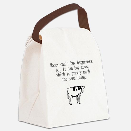 money can't buy happiness but it  Canvas Lunch Bag