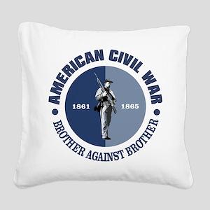American Civil War Square Canvas Pillow