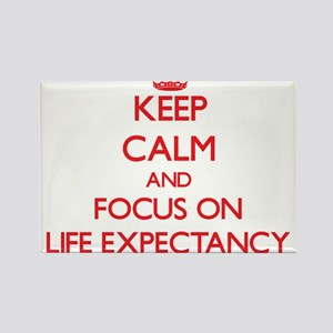 Keep Calm and focus on Life Expectancy Magnets