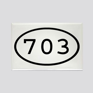 703 Oval Rectangle Magnet