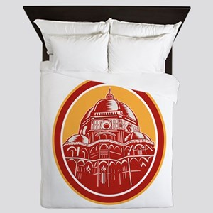 Dome of Florence Cathedral Front Woodcut Queen Duv