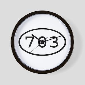 703 Oval Wall Clock