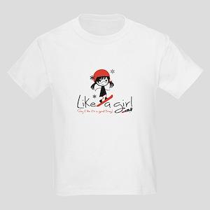 Shred Like A Girl! Kids Light T-Shirt