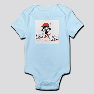 Shred Like A Girl! Infant Body Suit