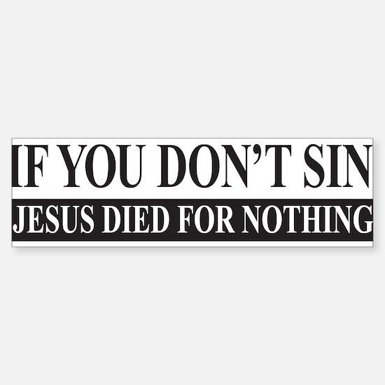 Cute Sins Sticker (Bumper)