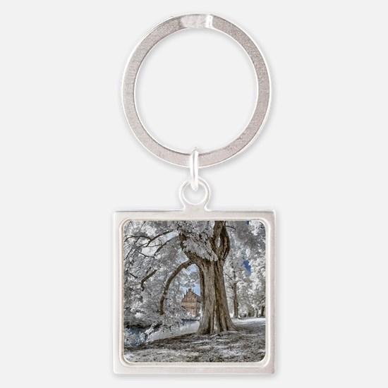 Infrared Creek Square Keychain