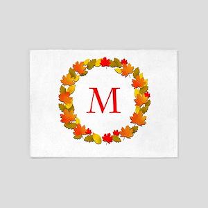 Autumn Monogram 5'x7'Area Rug