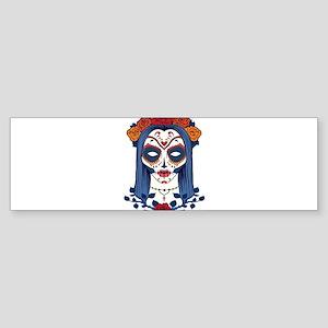 Sugar Skull 6 Bumper Sticker