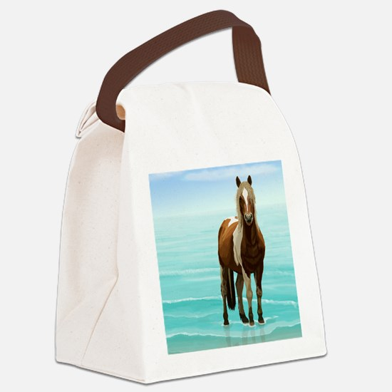 Cute American paint horse Canvas Lunch Bag
