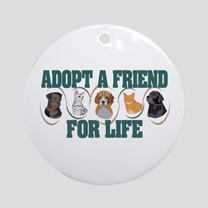 Adopt A Friend Ornament (Round)