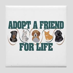 Adopt A Friend Tile Coaster