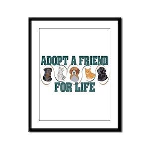 Adopt A Friend Framed Panel Print