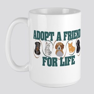 Adopt A Friend Large Mug