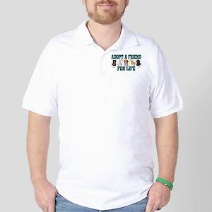 Adopt A Friend Golf Shirt