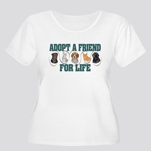 f9b96ab95b Adopt A Friend Women s Plus Size Scoop Neck T-Shir