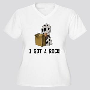 I got a rock! Women's Plus Size V-Neck T-Shirt