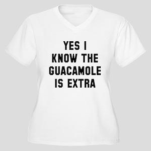 I know the guacam Women's Plus Size V-Neck T-Shirt