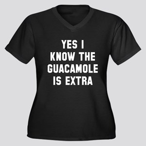I know the g Women's Plus Size V-Neck Dark T-Shirt