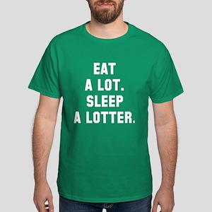 Eat a lot, sleep a lotter Dark T-Shirt