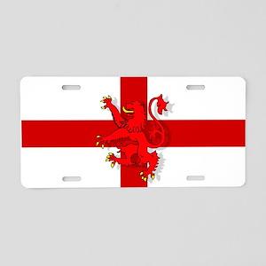 English Lion Flag Aluminum License Plate