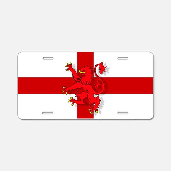 English Lion Flag Aluminum License Plate