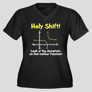 Holy shift a Women's Plus Size V-Neck Dark T-Shirt
