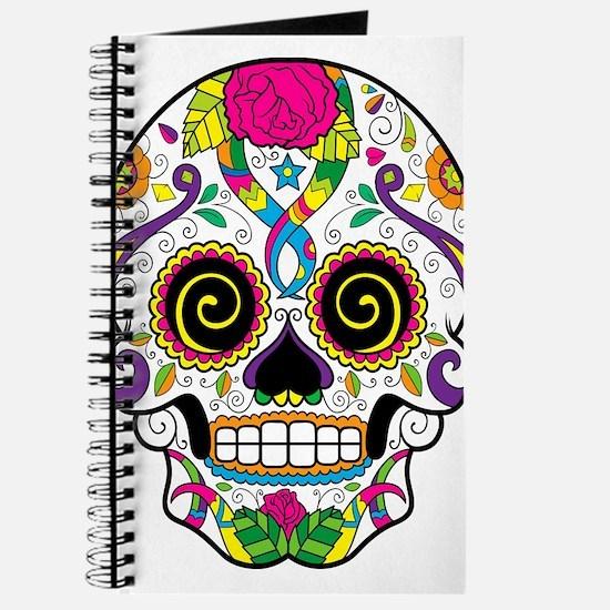 Curly Eyes Sugar Skull Journal