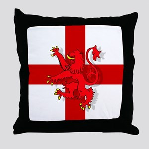 English Lion Flag Throw Pillow