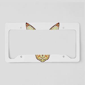 Kitty Sugar Skull License Plate Holder