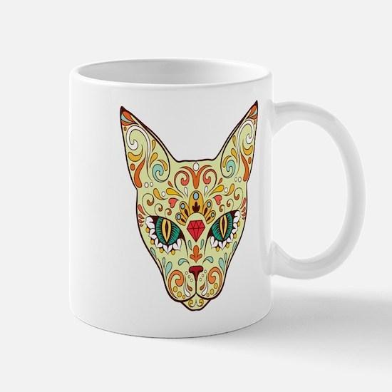 Kitty Sugar Skull Mugs