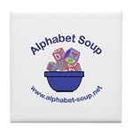 Alphabet Soup Tile Coaster