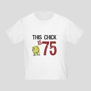 Womens Funny 75th Birthday T Shirt