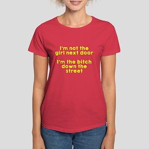 Not the girl next door Women's Dark T-Shirt